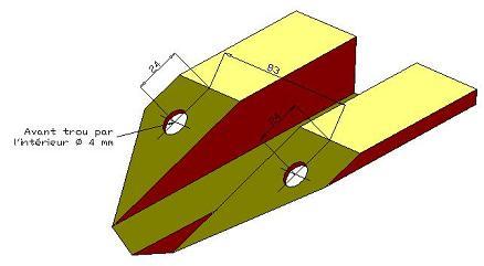Schéma des cotes des trous de perçage - 13.6ko